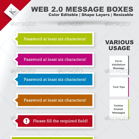 Web 2.0 Message Boxes