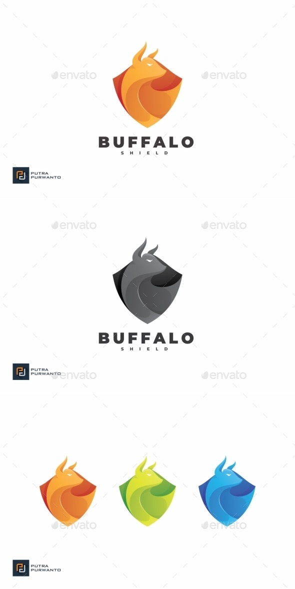 Buffalo Shield - Logo Template - Animals Logo Templates
