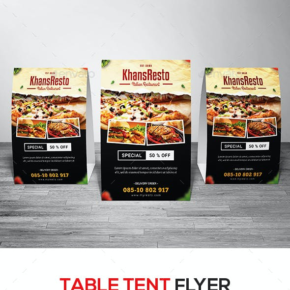 Restaurant Table Tent Flyer