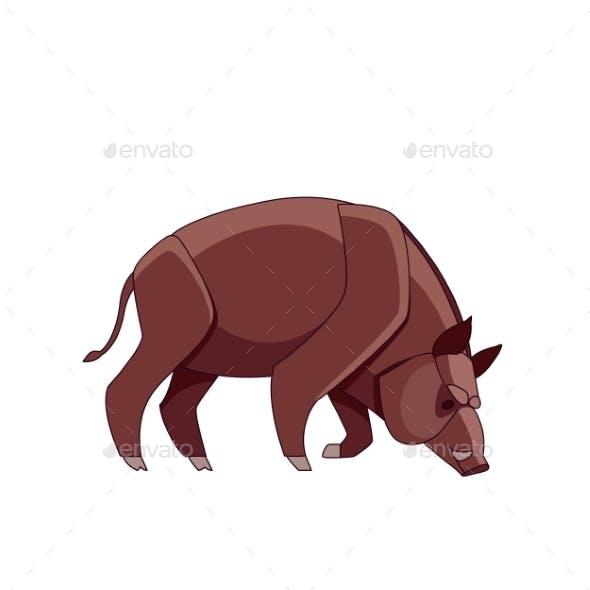 Boar Pigs Cartoon Character