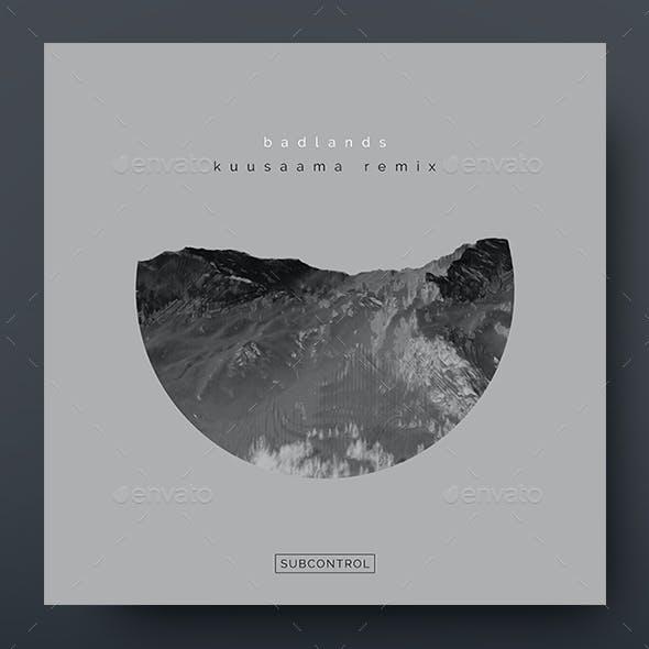 Badlands – Minimal Album Cover Artwork Template