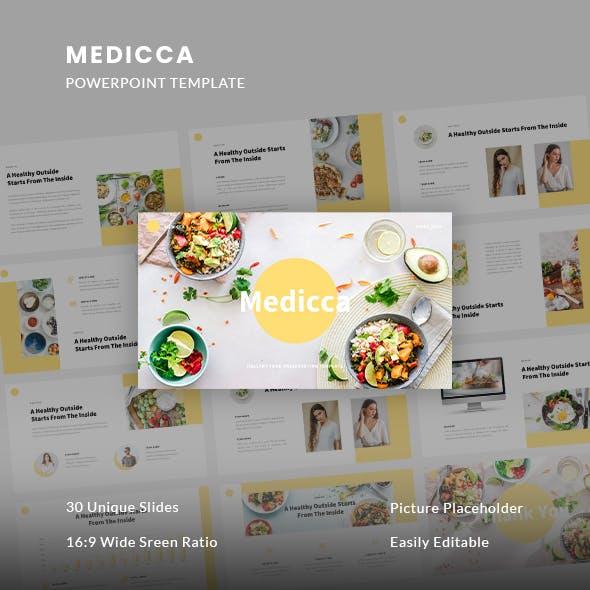 Medicca - Healthy Food PowerPoint Template