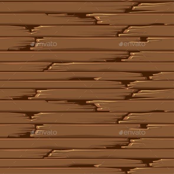 Seamless Textured Old Wood Floor Brown Wallpaper