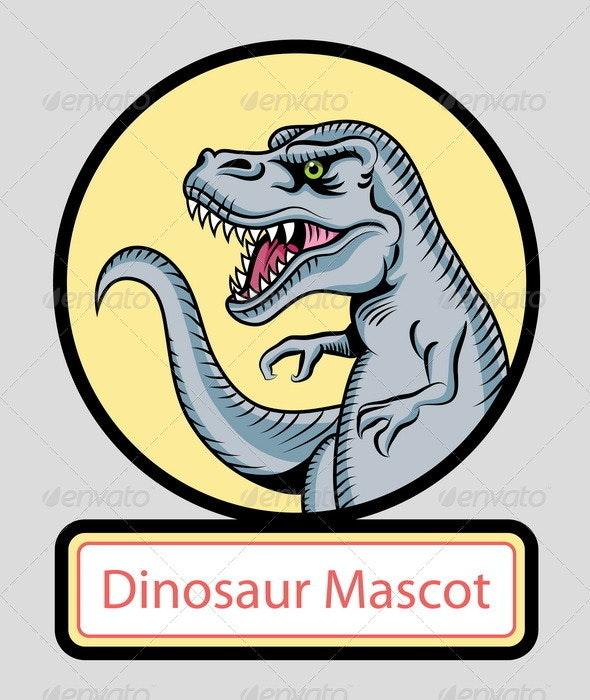 Dinosaur mascot vector - Animals Characters