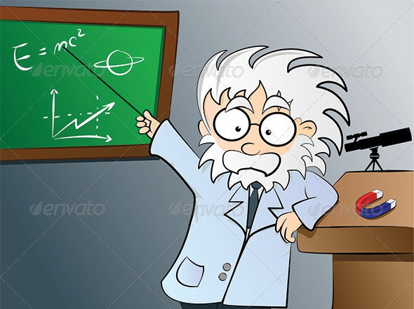 Physics teacher in class - People Characters