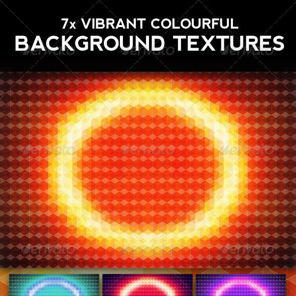 Hexagonal Vibrant Background Grid Texture #1