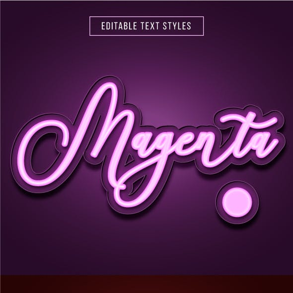 """This is """"Neon Lighting Text Effects"""" for Illustrator"""