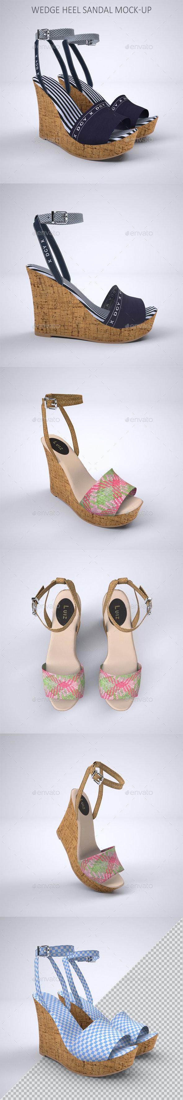 Wedge Heel Sandals Mock-up - Product Mock-Ups Graphics