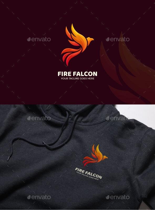 Fire Falcon Bird Gradient Luxury Logo Template - Animals Logo Templates