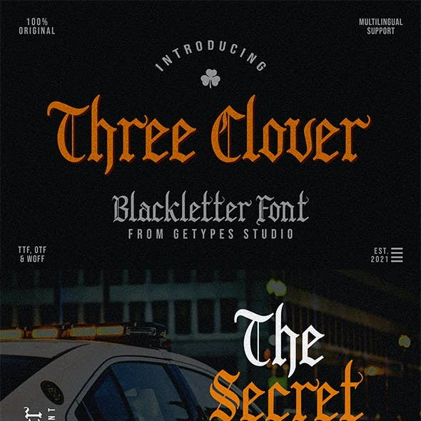 Three Clover | Blackletter Font