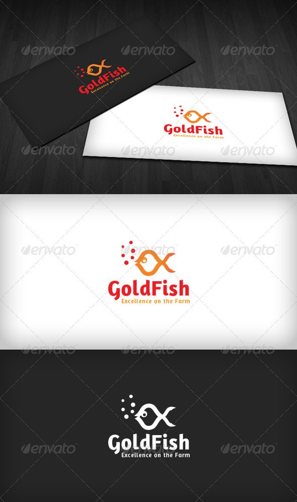 Gold Fish Logo - Animals Logo Templates
