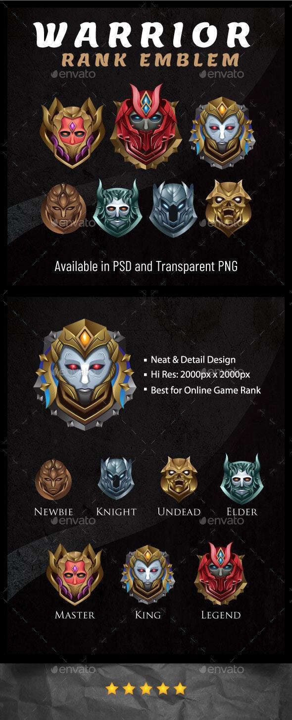 Warrior Rank Emblem Game Asset - Miscellaneous Game Assets