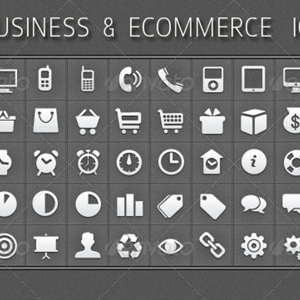 50 Business and Ecommerce Icons