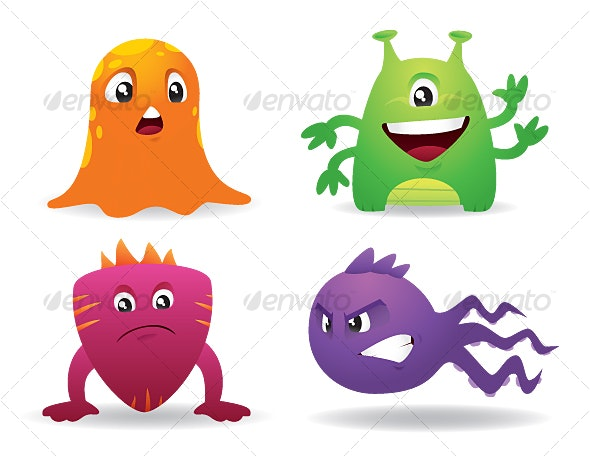 Cute Cartoon Monsters - Monsters Characters