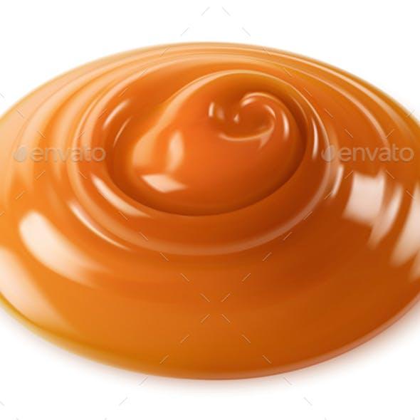 Vector realistic caramel