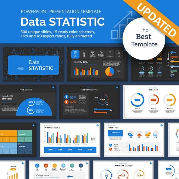 Data Statistic PowerPoint Presentation Template - Finance PowerPoint Templates