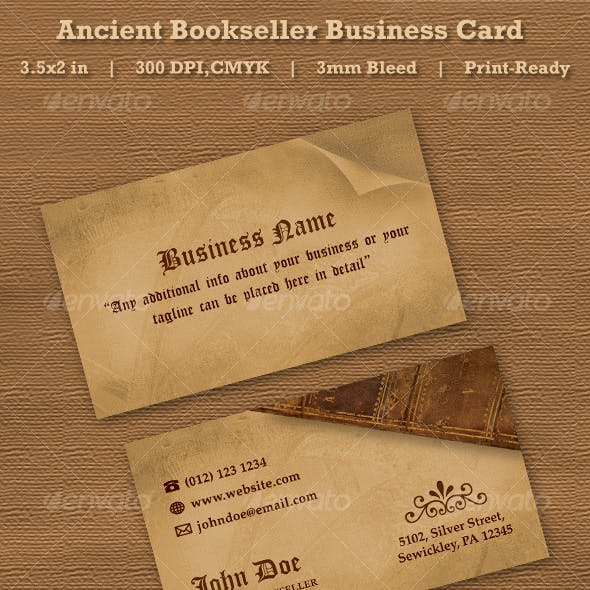 Ancient Bookseller Business Card