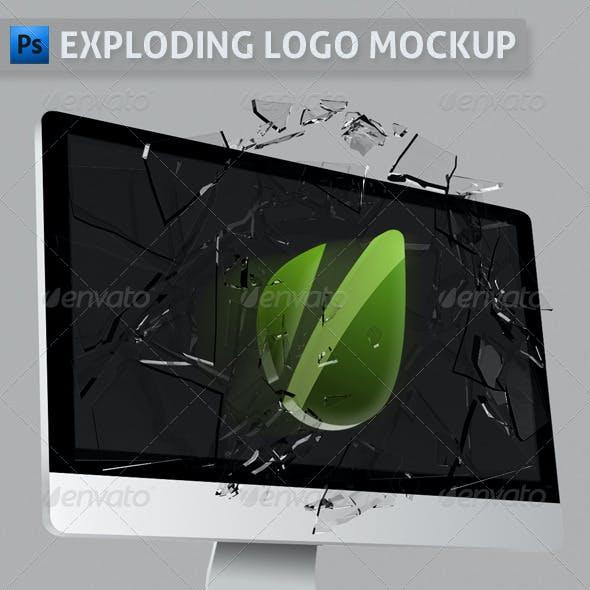 Exploding Logo Mockup