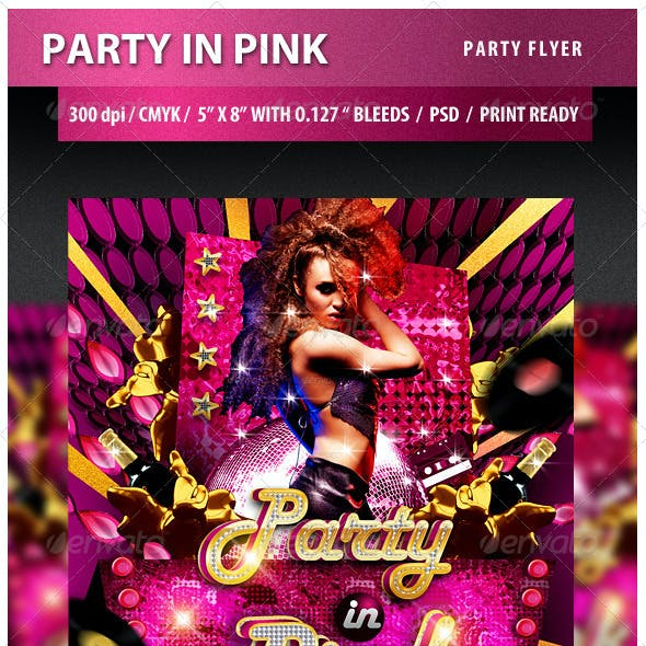 Party in Pink Party Flyer