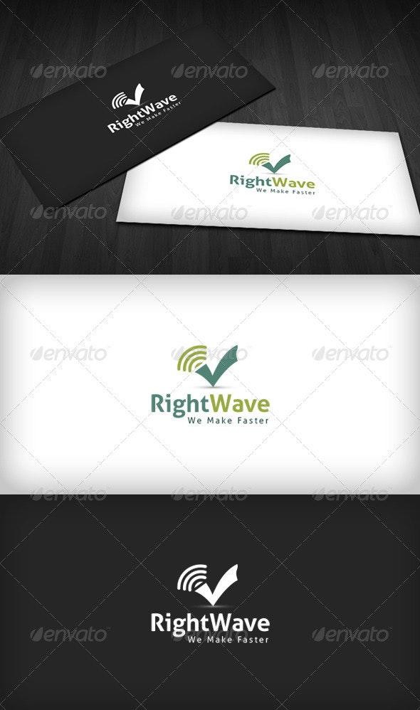 Right Wave Logo - Symbols Logo Templates