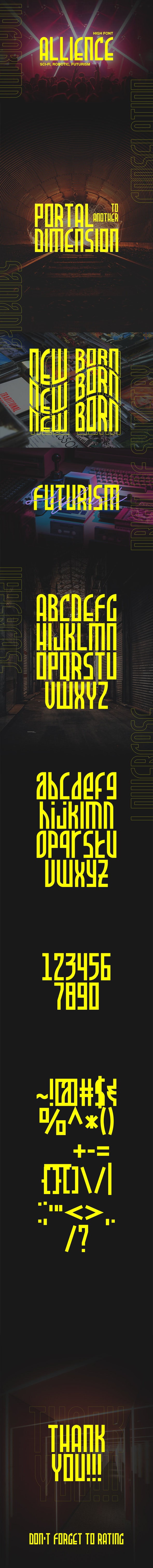 Allience - High Futurism Font - Condensed Sans-Serif