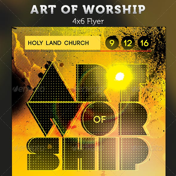 Art of Worship: Gospel Concert Flyer Template