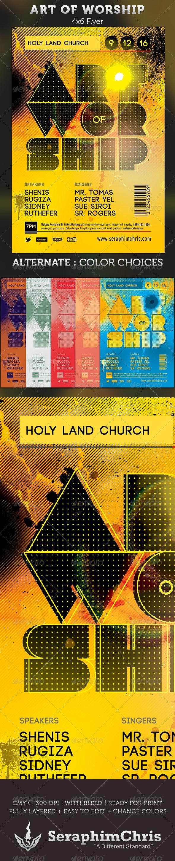 Art of Worship: Gospel Concert Flyer Template - Church Flyers