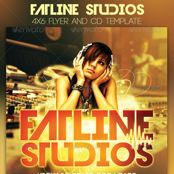 Fatline Studios Flyer and CD Template