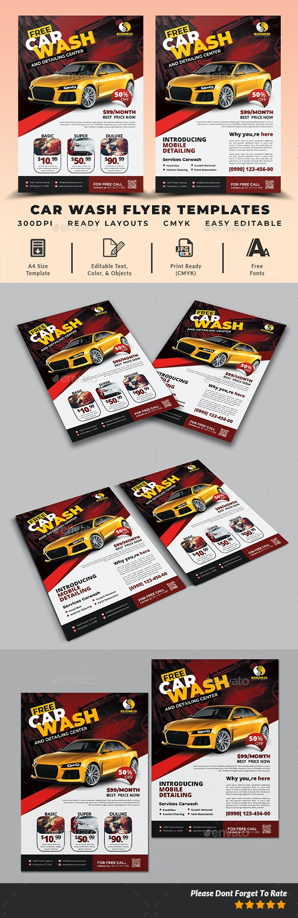 Car Wash Flyer Templates - Commerce Flyers