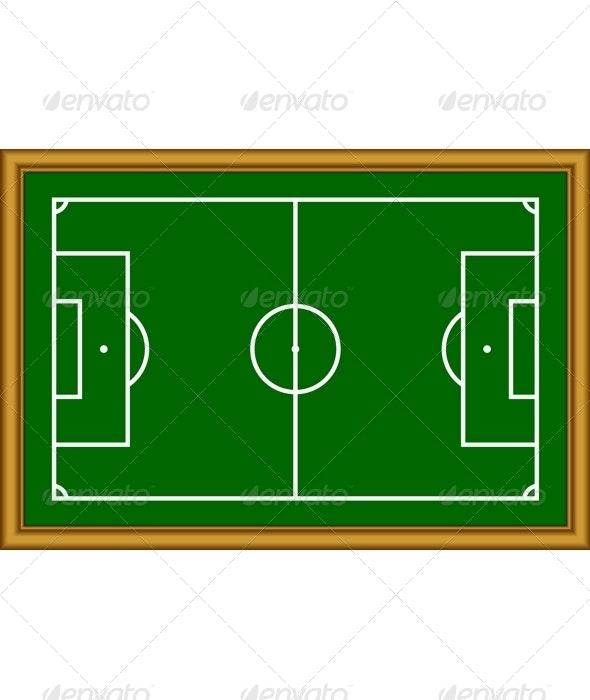 The soccer field scheme. - Borders Decorative