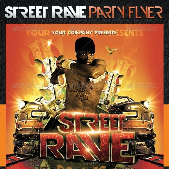 Street Rave Party Flyer