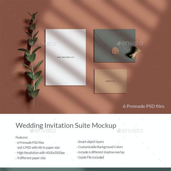 Wedding Invitation Suite Mockup