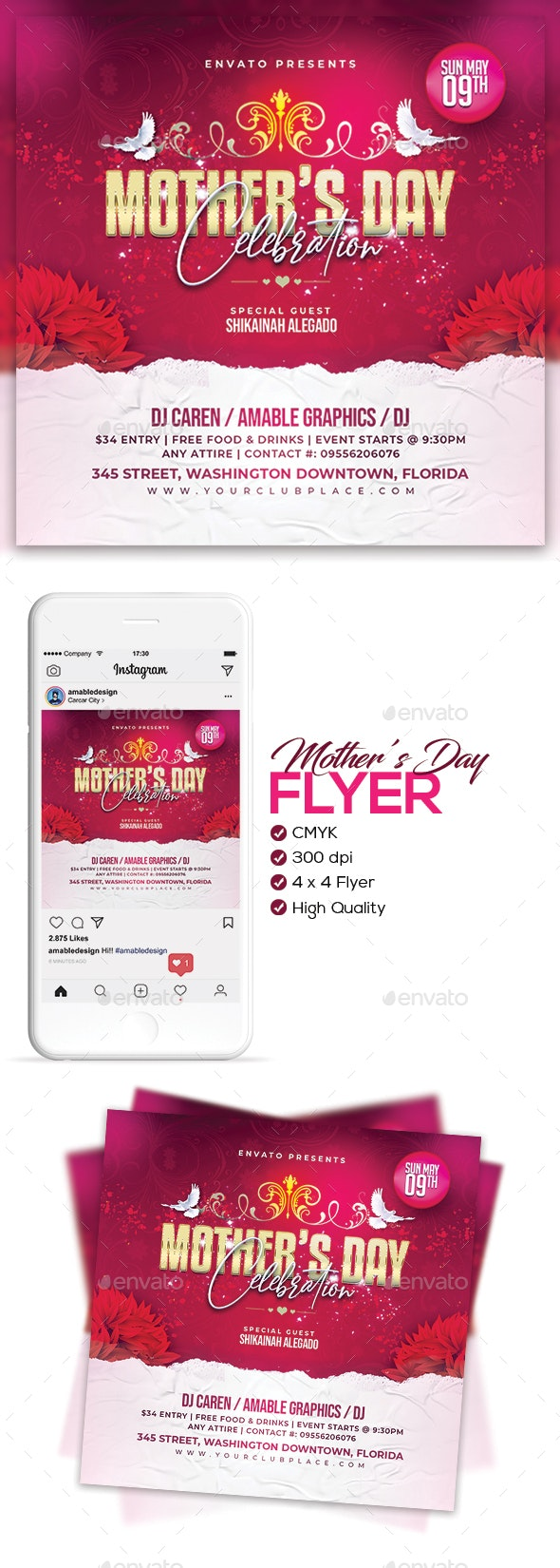 Mother's Day Flyer/Poster - Holidays Events
