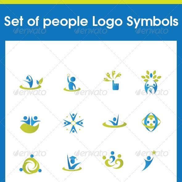 Set of people Various Symbols