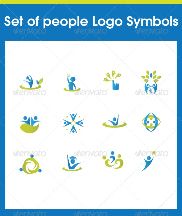 Set of people Various Symbols - Communications Technology