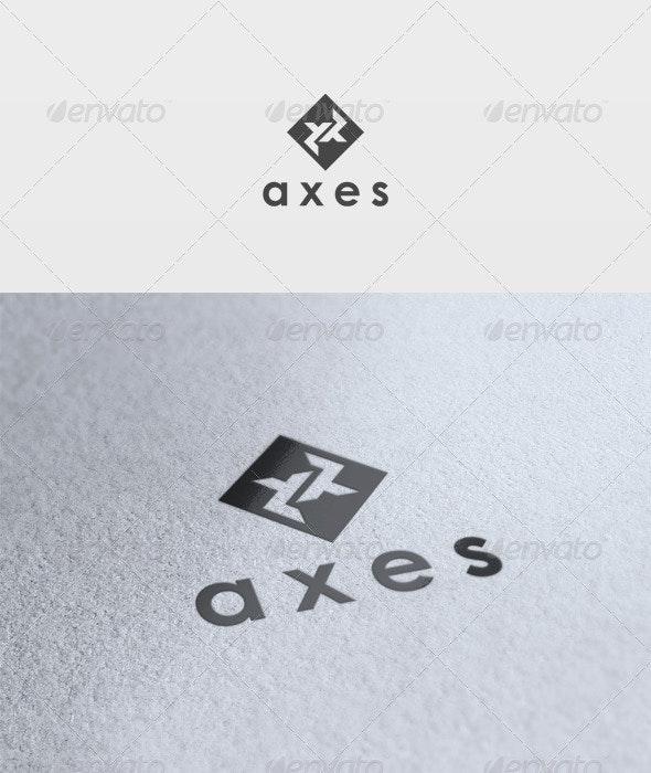 Axes Logo - Vector Abstract