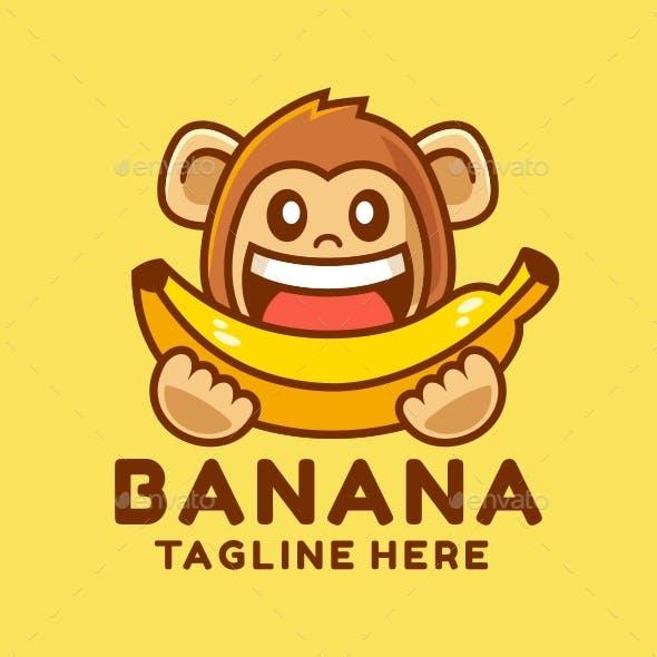 Happy Monkey Eating Banana