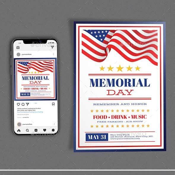 Memorial Day Template Set