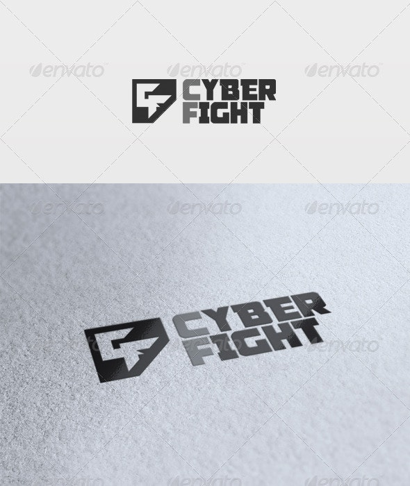 Cyber Fight Logo - Letters Logo Templates