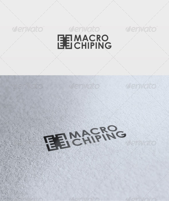Macro Chip Logo - Vector Abstract