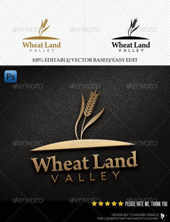 Wheat Land Logo Template - Nature Logo Templates