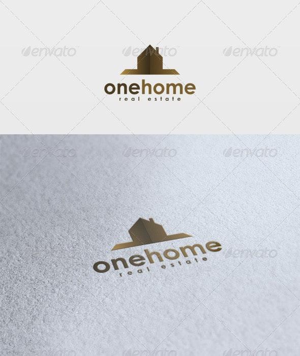 One Home Logo - Buildings Logo Templates