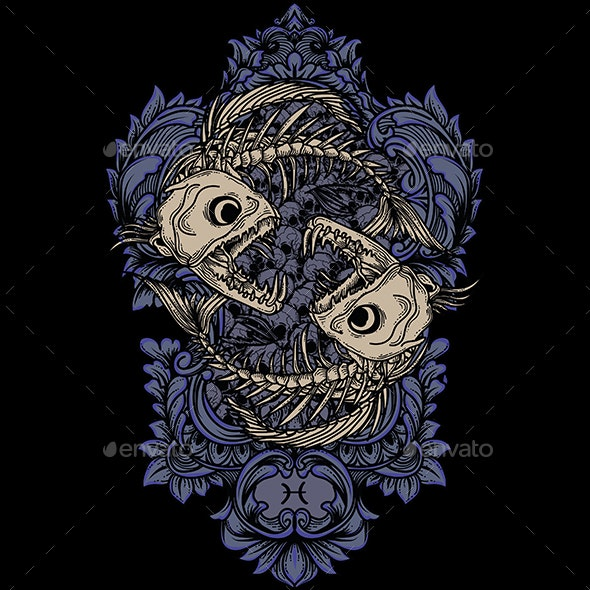 Pisces Yin Yang - Monsters Characters