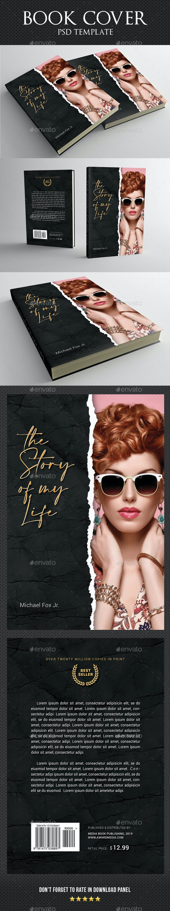 Book Cover Template 88 - Miscellaneous Print Templates