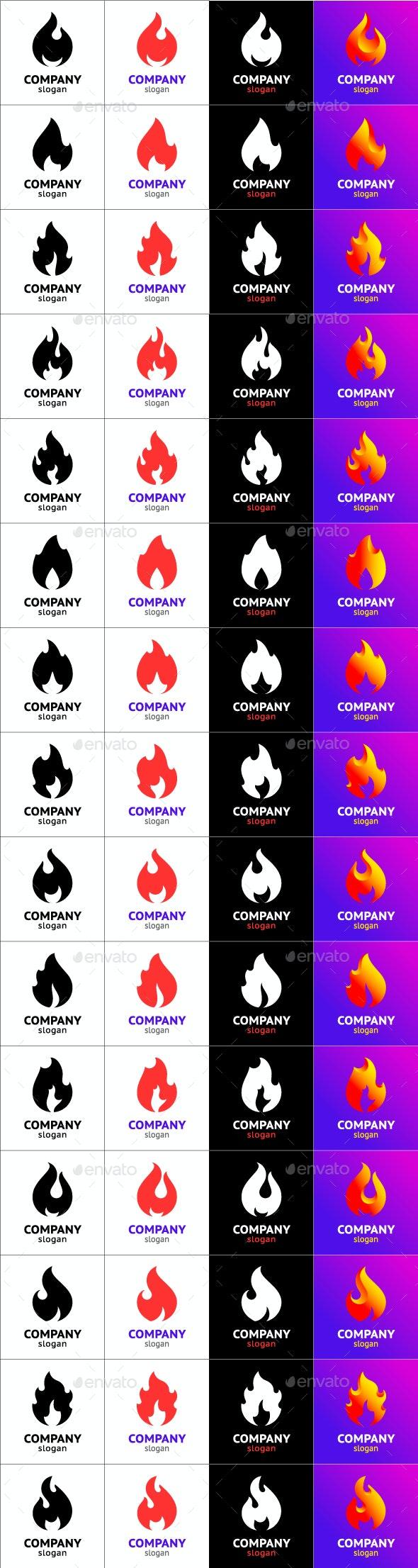 15 Fire Flames - Vectors