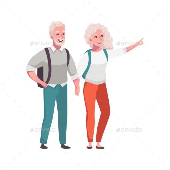 Senior People Illustration