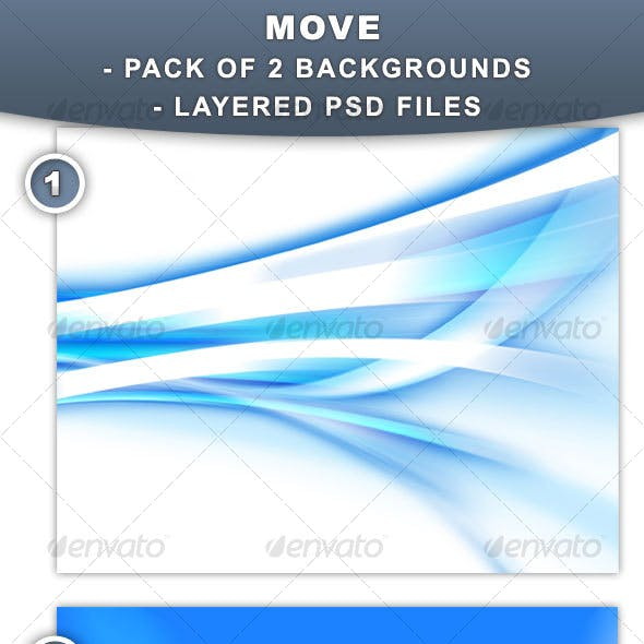 Move - Backgrounds for web and print