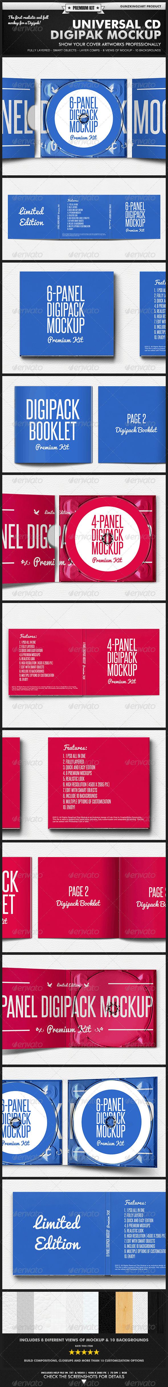 Digipak CD Mockup - Premium Kit - Discs Packaging
