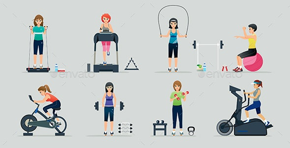 Equipment and exercise - Sports/Activity Conceptual