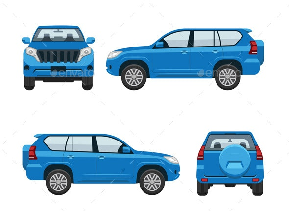 Car Isometric Set Illustration - Objects Illustrations